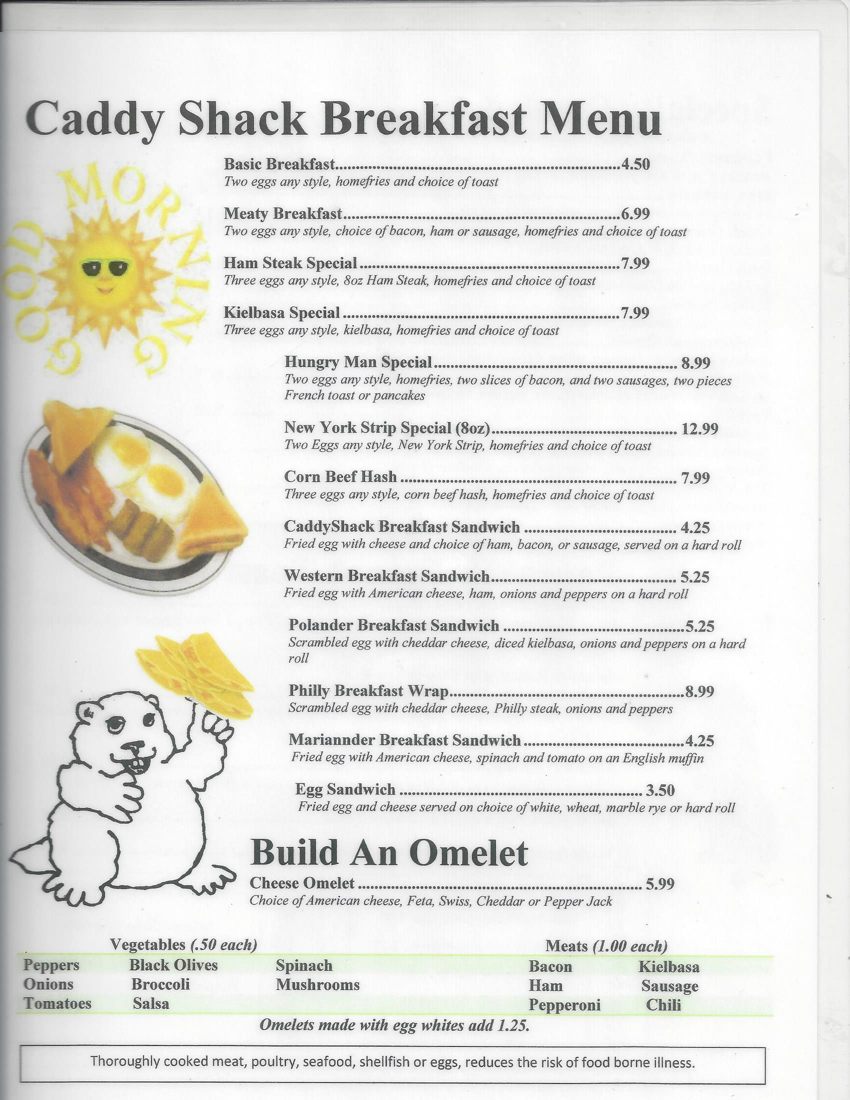 Breakfast Menu Page 1