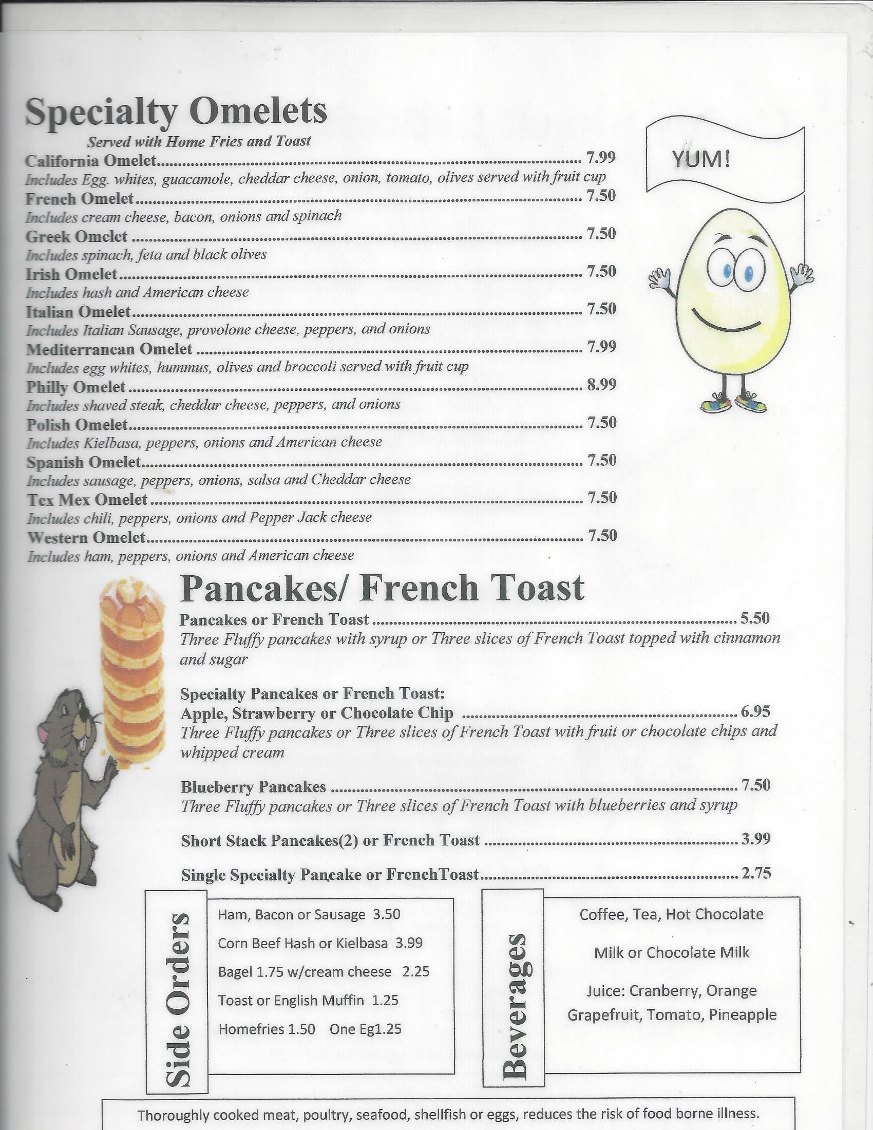 Breakfast Menu Page 2